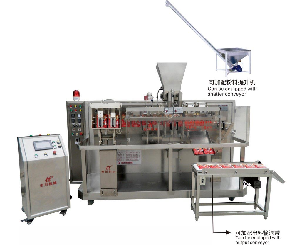 HC-110G/140G/180G Double bag-given powder granule / liquid horizontal automatic packaging machine(High Speed and Fully Automatic)